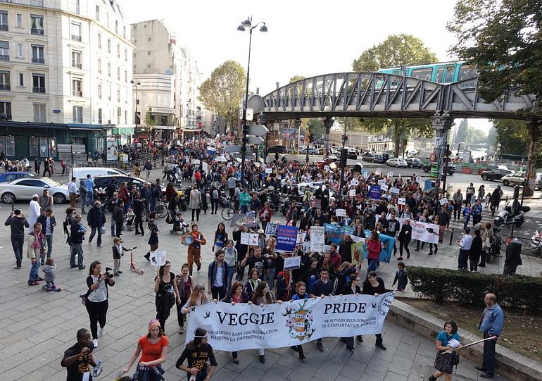 Ежегодный Veggie Pride: Париж против бессмысленного насилия